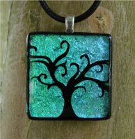 Whimsical Fused Glass Tree by FusedElegance