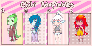 Chibi Adoptables Sale! [$2] ::Element Princesses:: by PieSeas