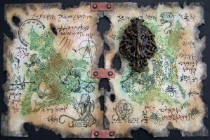 Rlyeh Artifact and Map by MrZarono