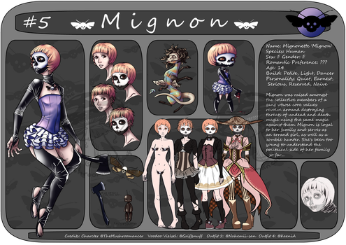 CharacterSheet#5: Mignon by TheMushroomancer