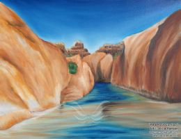 Red Rock Corridor by Aryenne