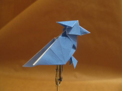 Origami woodpecker by orimin