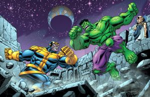 Greatest Battles: Hulk Vs Thanos by bennyfuentes