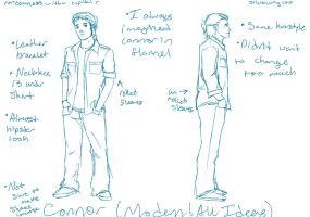 Connor Modern!AU Ideas by Silverwing100