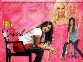 Wallapaper Ashley Michelle Tisdale by Reyess