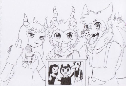 Say cheese! [ BATIM chapter 2 ] [ Sketch version ] by Hiyoko-little-chick