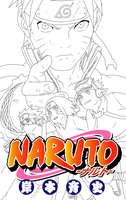 Naruto Vol. 68 -Furrow- Lineart by NinjaMia