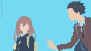 Shouko | Shouya (Koe no Katachi) Minimalist by Sephiroth508