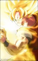 son goku super saiyajin by salvamakoto