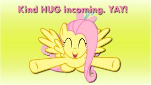 Wallpaper Fluttershy kind HUG incoming! by Barrfind