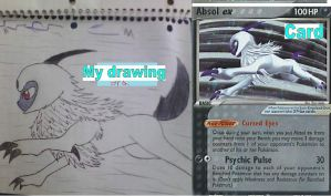 Pokemon card turned into a drawing (1) by xXShadow-BlizzardXx