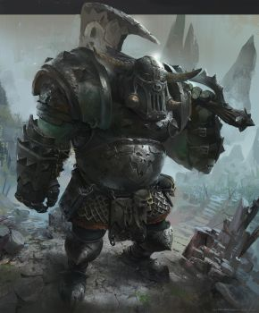 Orc warhammer fan art by neisbeis