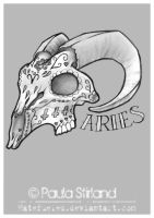 Aries Sugar Skull by hatefueled