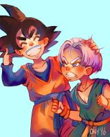 Goten and Trunks by Ony-b