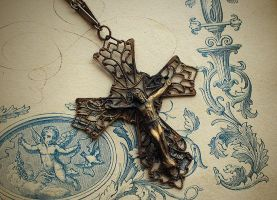 Crucifix Necklace by asunder
