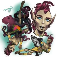 2013 Elfquest Fan Art Calendar: Spine by MaRge-KinSon