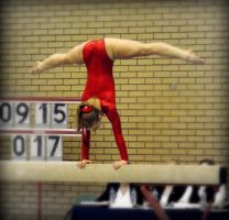 Beam Straddle Handstand by Michelle-xD