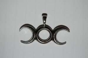Triple Goddess Symbol Pendant by Storms-Stock