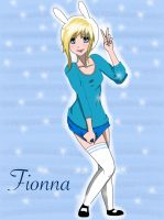 Fionna Adventure time Anime style by veronica1134