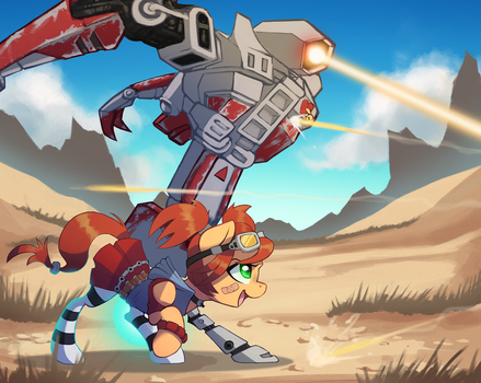Ponified Gaige - Borderlands 2 by DarkSittich