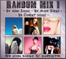 Icon Bases: Wings ~ Corsets ~ Masks by Sardistri