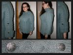 Grey cable sweater Jackie by KnitLizzy