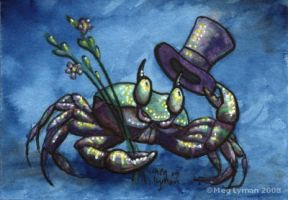 Gentleman Crab ACEO by MegLyman