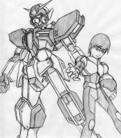 Omega Gundam and Lance by Linkinpark30101