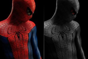 spiderman/venom before and after edit by Nick004