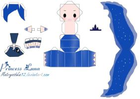 Princess Luna My little Pony Papercraft by matryoshka12