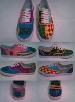 Harry Potter-Doctor Who Shoes by emily-mary-r