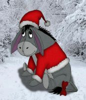 Merry Christmas from Eeyore by Lttle-Horrors