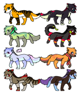 Canine Adoptables .:OPEN:. by Falkz-Adopts