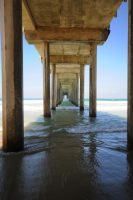 Scripps Pier VI by LDFranklin