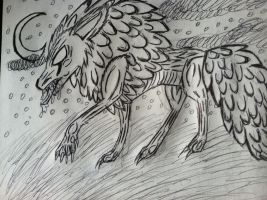 Wolf drawing by NottheVoreFreak