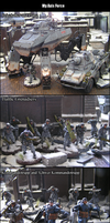 My Dust Warfare Axis Army by kitfox-crimson