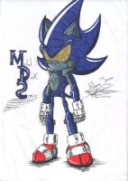 Metal Dark Sonic by rickhedgehog