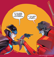 Windblade vs. Starscream by Valong