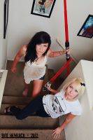 Girls With Lightsabers 01 by tatehemlock