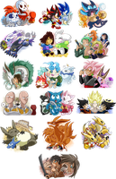 Animu + Videogames Stickers 4 Con by SoftMonKeychains
