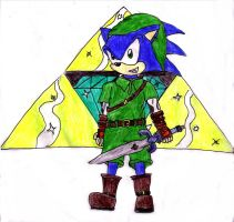 Sonic As Link - For Fider by tails-sama
