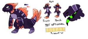 Fluffy Raptor Auction + Ref :CLOSED: by Swift-The-Kitty