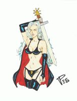 Lady Death Color Sketch by Pegarissimo