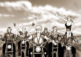 Bleach, bikers by Eneada