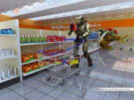 master chief shopping by williamsdavinchi