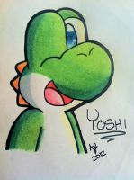 Simple Yoshi Doodle (video link in description!) by AwsmYoshi