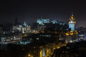 Edinburgh Cityscape from Calton Hill by BusterBrownBB