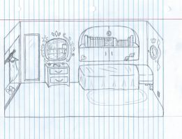 Alison's Room 1E SKETCH by Code-Sonic