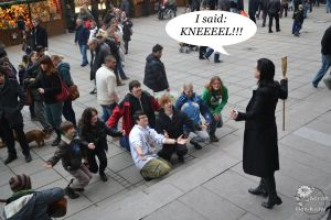 LOKI Cosplay in the REAL Stuttgart 07 - KNEEL! by Mon-Kishu