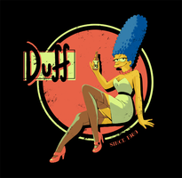 Pin-up Marge Simpsons ! by Pikila